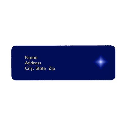 Christian Religious Christmas Address Label