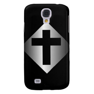 Christian Religious Cross Black and Silver Galaxy S4 Case