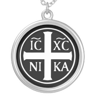 Christian Religious Icon ICXC NIKA Christogram Necklace