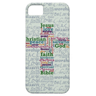 Christian Religious Word Art Cross iPhone 5 Covers