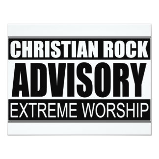 Christian Rock Advisory... Card