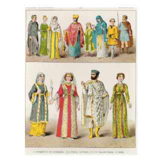 Christian Roman Dress Postcard