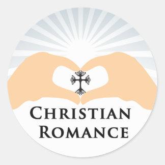 Christian Romance Genre Book Cover Round Sticker