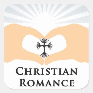 Christian Romance Genre Book Cover Square Sticker