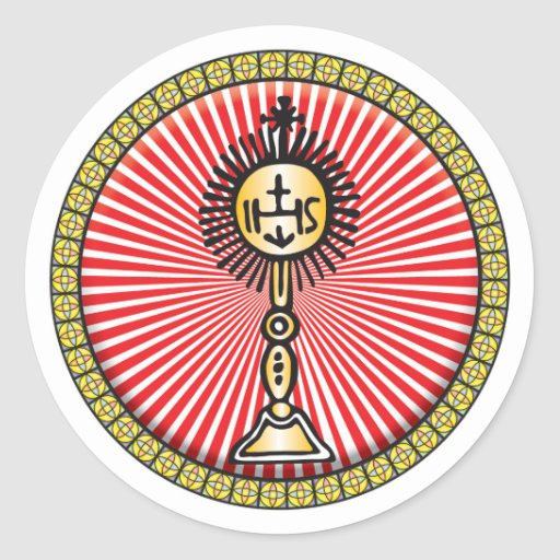 Christian Sacrament Icon Round Sticker