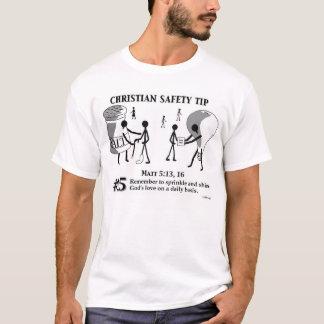 Christian Safety Tip #15 : Matt 5:13,16 T-Shirt