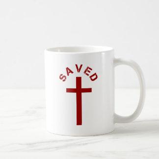 Christian Saved Red Cross and Text Design Coffee Mug
