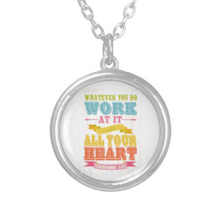 Christian Scriptural Bible Verse - Colossians 3 23 Necklaces
