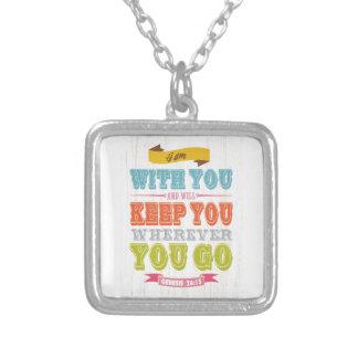 Christian Scriptural Bible Verse - Genesis 28:15 Custom Necklace