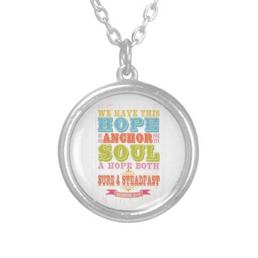 Christian Scriptural Bible Verse - Hebrew 6:19 Necklaces