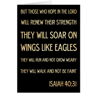 Christian Scriptural Bible Verse - Isaiah 40:31 Greeting Card