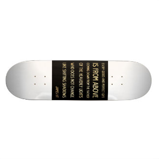 Christian Scriptural Bible Verse - James 1:17 20.6 Cm Skateboard Deck