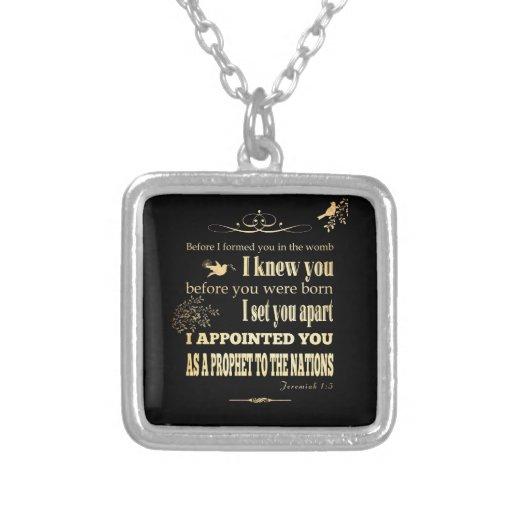 Christian Scriptural Bible Verse - Jeremiah 1:5 Jewelry