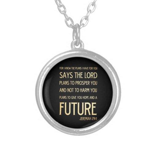 Christian Scriptural Bible Verse - Jeremiah 29:11 Custom Jewelry