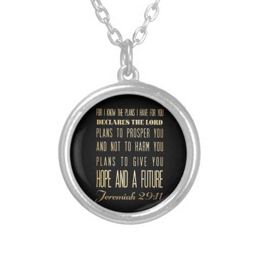 Christian Scriptural Bible Verse - Jeremiah 29:11 Pendants