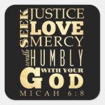 Christian Scriptural Bible Verse - Micah 6:8