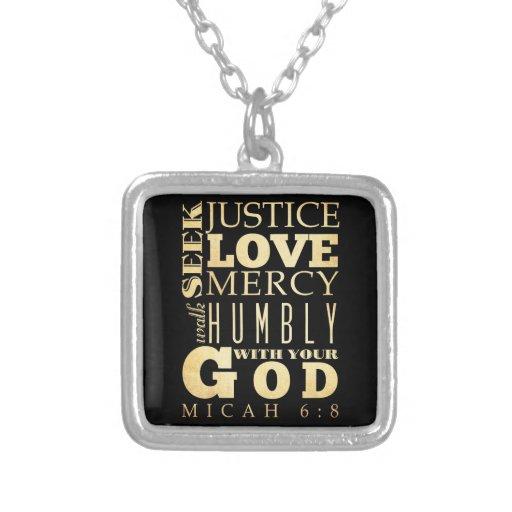 Christian Scriptural Bible Verse - Micah 6:8 Custom Jewelry