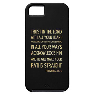 Christian Scriptural Bible Verse - Proverbs 3:5-6 iPhone 5 Cover