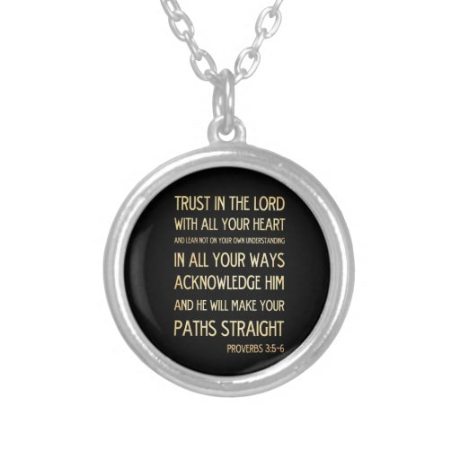 Christian Scriptural Bible Verse - Proverbs 3:5-6 Jewelry