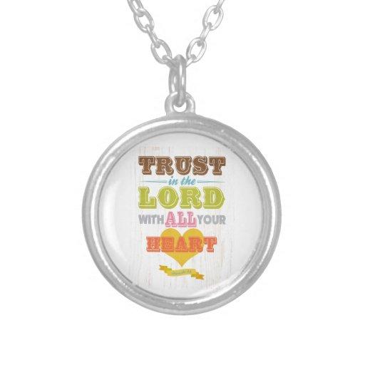 Christian Scriptural Bible Verse - Proverbs 3:5 Custom Necklace