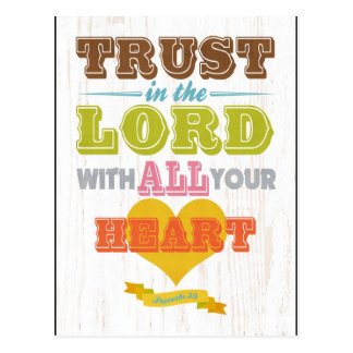 Christian Scriptural Bible Verse - Proverbs 3:5 Postcard