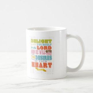 Christian Scriptural Bible Verse - Psalm 37:4 Basic White Mug