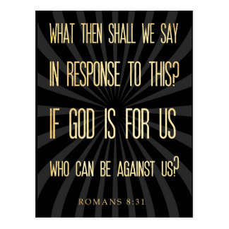 Christian Scriptural Bible Verse - Romans 8:31 Postcard