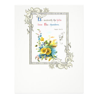 Christian Scripture And Pretty Flowers 21.5 Cm X 28 Cm Flyer