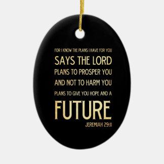 Christian Scripture Bible Verse Art Jeremiah 29:11 Christmas Ornament