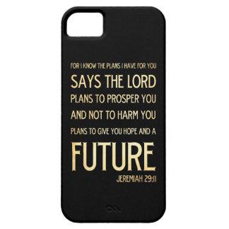 Christian Scripture Bible Verse Art Jeremiah 29:11 iPhone 5 Cover