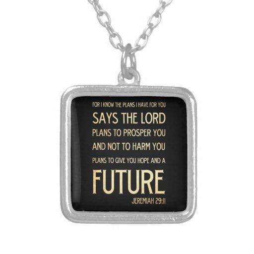 Christian Scripture Bible Verse Art Jeremiah 29:11 Jewelry