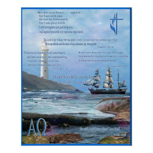 Christian scriptures art poster