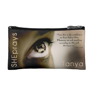 Christian SHE PRAYS Personalized Makeup Bags