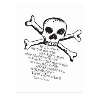 Christian Skull Postcard