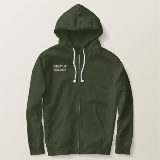 CHRISTIAN SOLDIER EMBROIDERED HOODIE
