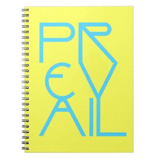 Christian Spiritual Prophetic Warfare PREVAIL Spiral Notebook