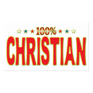 Christian Star Tag Business Card Templates