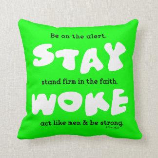 Christian Stay Woke Be Alert Reversible Cushion