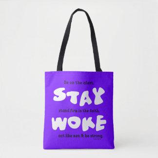 Christian Stay Woke Be Alert Tote Bag