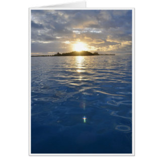 Christian Sunrise Over Water Card