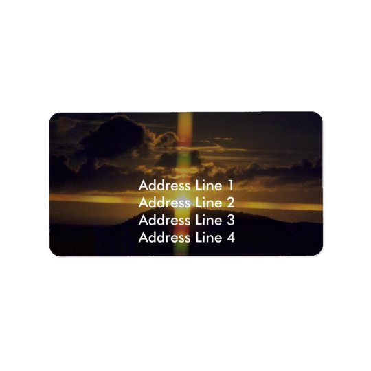Christian Sunset Label