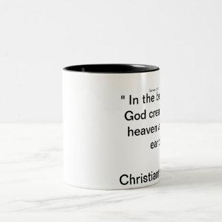 Christian talk radio Two-Tone mug