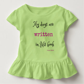 Christian Tee Shirt for Toddlers: Scripture