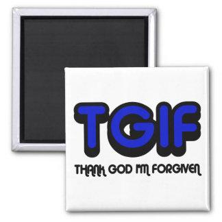 "Christian ""TGIF"" Thank God I'm Forgiven Magnet"