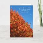 Christian Thanksgiving Card -- Autumn