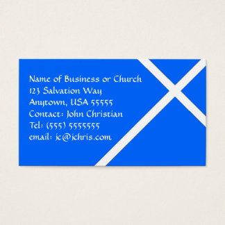 Christian Theme White Cross for Churches & Pastors Business Card