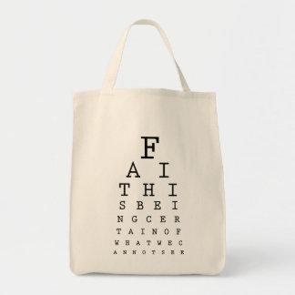 Christian tote bag: Faith Vision