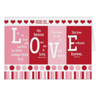"Christian Valentine Card ""God is LOVE"" Bible Verse"