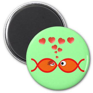 Christian Valentine Orange v2 6 Cm Round Magnet