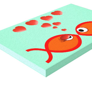 Christian Valentine Orange v2 Canvas Print